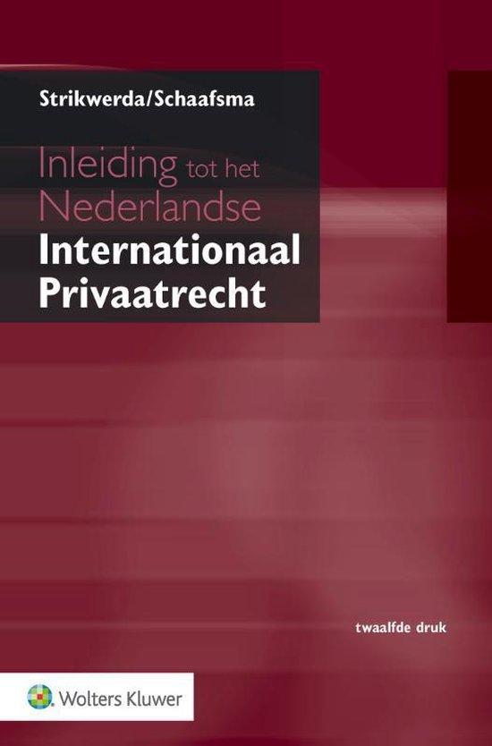 Boek cover Inleiding tot het Nederlandse Internationaal Privaatrecht van L. Strikwerda (Paperback)