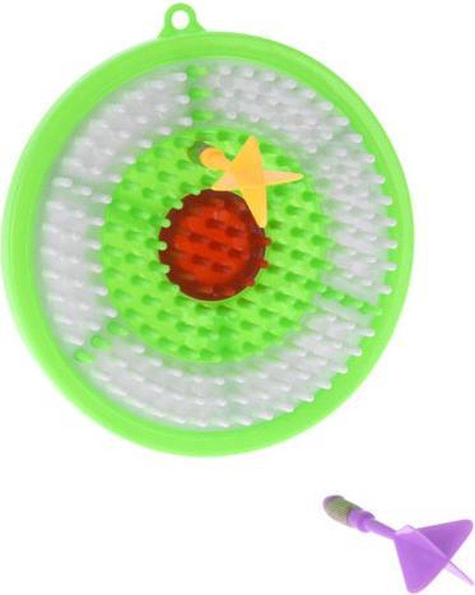 dartbordset junior 16,1 cm groen/wit 3-delig