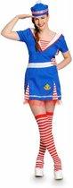 Matrozenjurk Vrouw 3delig- Verkleedkleding - Maat S/M - Carnavalskleding