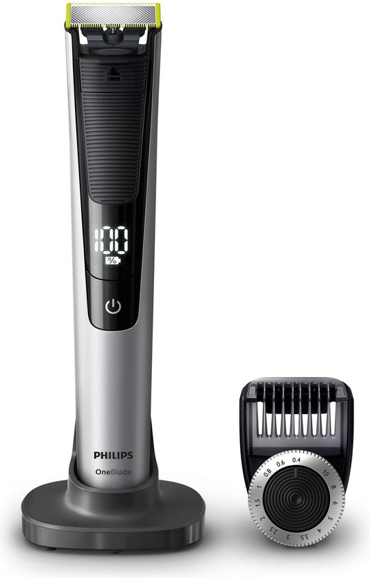 Philips OneBlade Pro QP6520/30 - Trimmer, scheerapparaat en styler - Zwart | Zilver