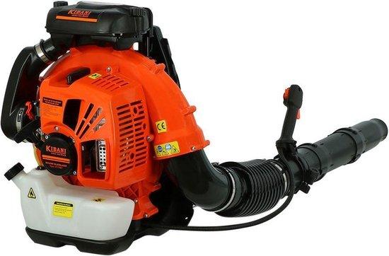 Kibani Benzine Bladblazer 75.6 cc / 5 pk – Luchtsnelheid 391 km/h – 3700W - Ruggedrager - Bladblazers