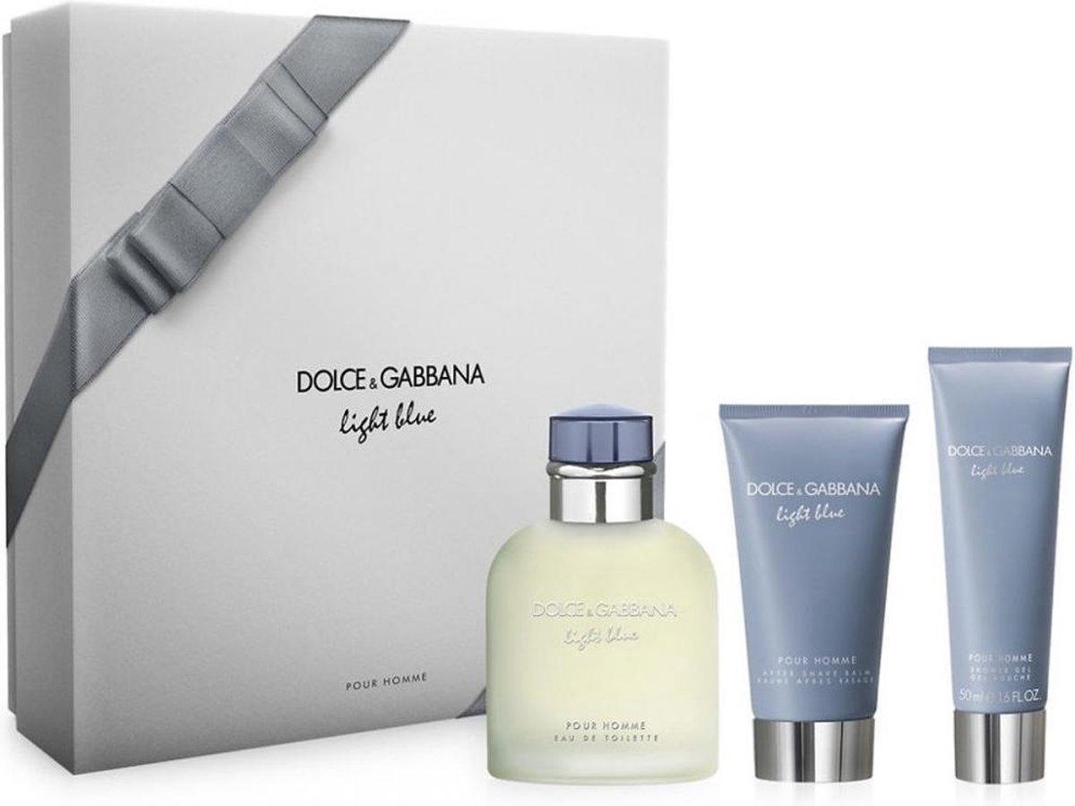 D&G Light Blue - Geschenkset - Eau de toilette 125 ml + After shave balsem 75 ml + Douchegel 50 ml - Dolce & Gabbana