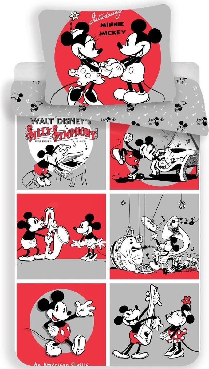 Dekbedovertrek- Disney Mickey Mouse & Minnie Mouse Classics- Eenpersoons- 140x200 cm kopen