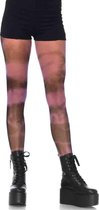 Leg Avenue Visnet panty Tie Dye Zwart/Roze