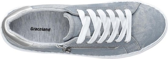 Graceland Dames Lichtblauwe sneaker sierrits - Maat 37 7E3QZuK1