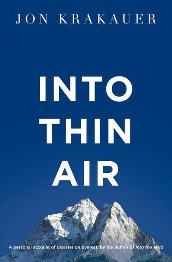 Boek cover Into Thin Air van Jon Krakauer (Onbekend)