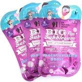 Dr. van der Hoog Big Fun Bubblegum Masker (3 sets van 2 maskers) - Pastel