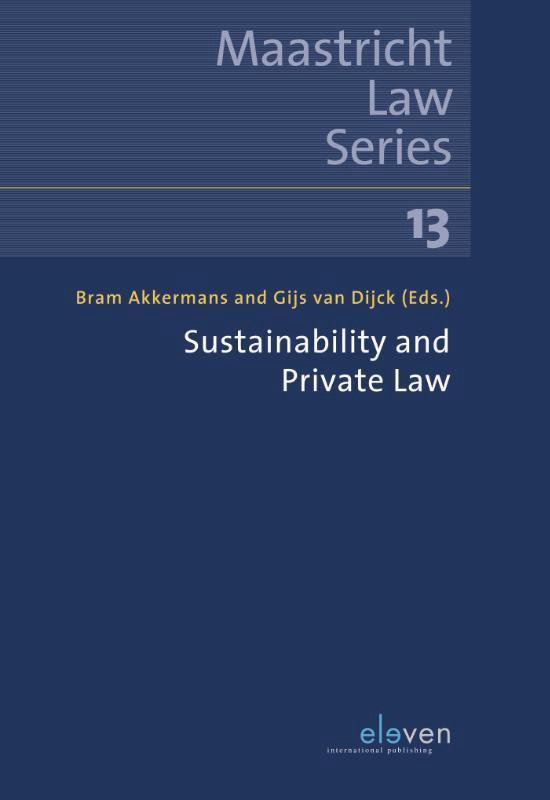 Boek cover Sustainability and Private Law van  (Paperback)