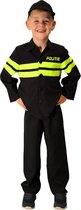 Rubie's Verkleedkostuum Politie Jongens Zwart/neongroen Mt 104