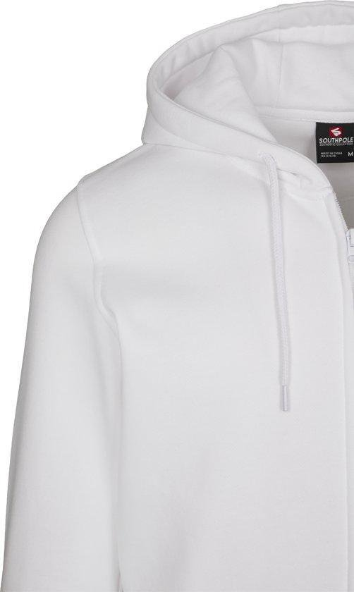 Heren Hoodie Southpole Nasa Insignia Logo Zip Hoody Wit