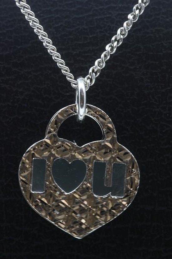 Zilveren Hart I Love You ketting hanger