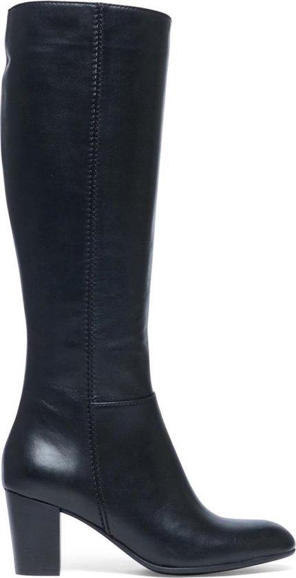 Manfield Dames Zwarte hoge laarzen met hak Maat 39