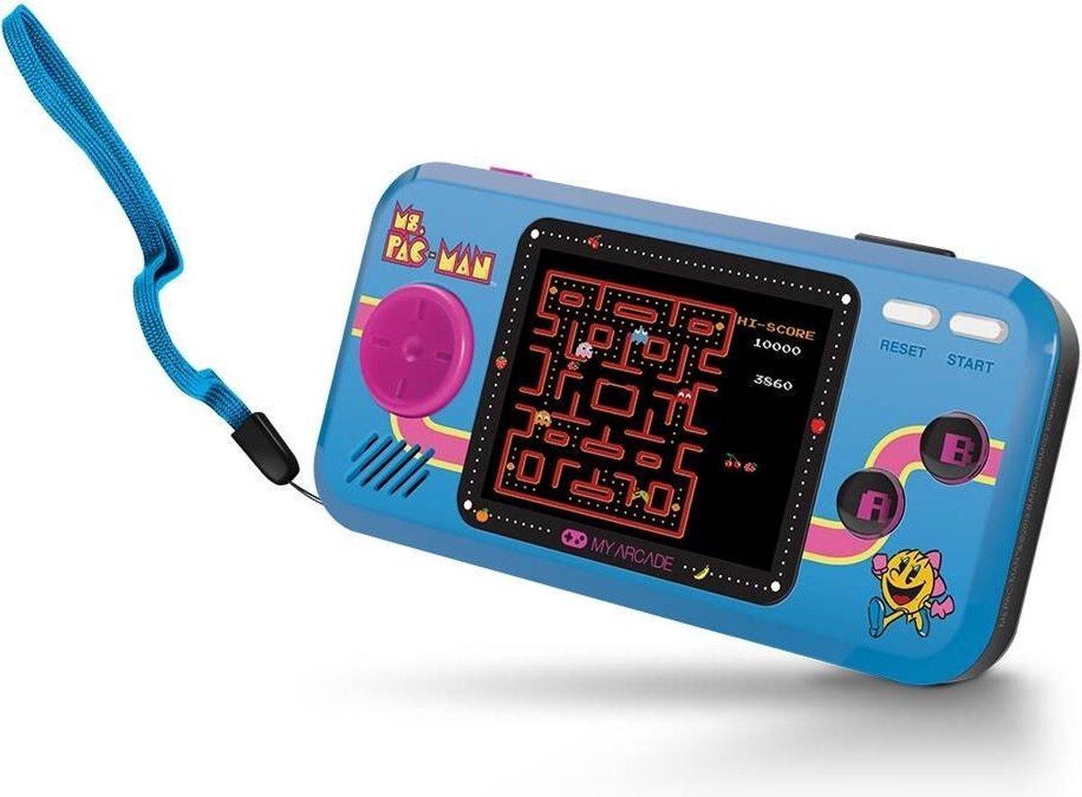 My Arcade Ms. Pac-Man draagbare game console Zwart, Blauw 6,98 cm (2.75'')