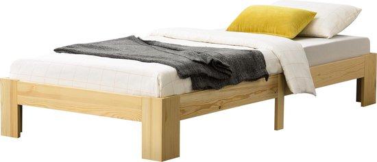 Houten bed Raisio met bedbodem 120x200 cm houtkleurig