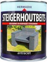 Hermadix Steigerhoutbeits - 0,75 liter - Antraciet