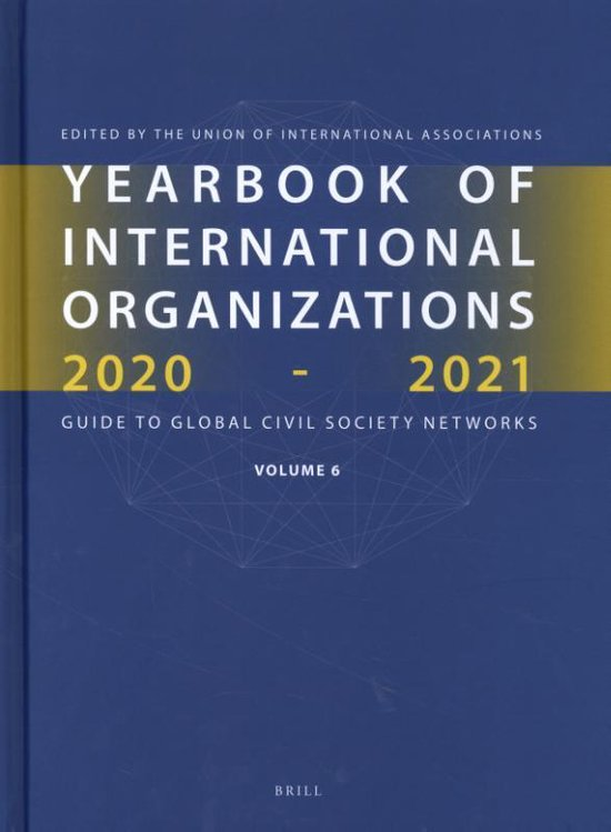 Yearbook of International Organizations 2020-2021, Volume 6