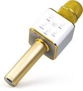 Technaxx BT-X31 Karaoke microfoon en stereo Bluetooth luidspreker Goud, Wit