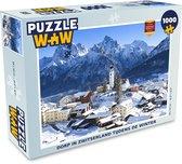 Puzzel 1000 stukjes volwassenen Winter in Zwitserland 1000 stukjes - Dorp in Zwitserland tijdens de winter  - PuzzleWow heeft +100000 puzzels