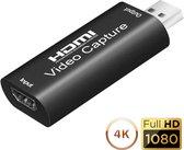 Capture Card HDMI naar USB - Video Capture geschikt voor PlayStation, Xbox, Nintendo, Windows, MAC - Game Capture EarKings