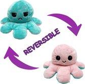 Mood Octopus Knuffel - Reversible / Dubbelzijdig - As seen on TikTok - 20 cm (mintgroen/roze)