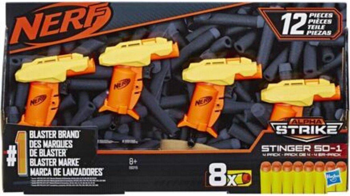 NERF Alpha Strike Stinger Blaster - 4 Pack