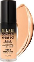 Milani Conceal + Perfect 2-in-1 Foundation + Concealer Kryj?cy Podk?ad Do Twarzy 02a2 Warm Natural 30ml