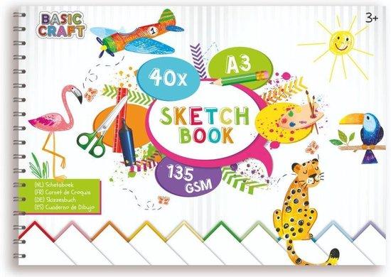 Afbeelding van het spel Basic Craft A3 Schetsboek 145 grams 40 Bladen