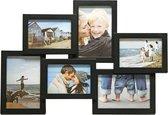 Fotolijst - Henzo - Holiday Gallery - Collagelijst voor 6 foto's - Fotomaat 10x15 cm - Zwart