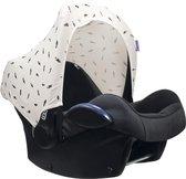Dooky Hoody Autostoel Zonnekap - Zwarte Veer