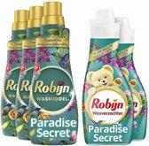 Robijn Paradise Secret Wasmiddel en Wasverzachter - 63 wasbeurten - Voordeelverpakking