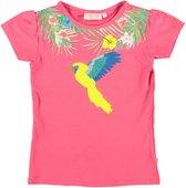 Someone roze meisjes stretch shirt met pailletten - Maat 116