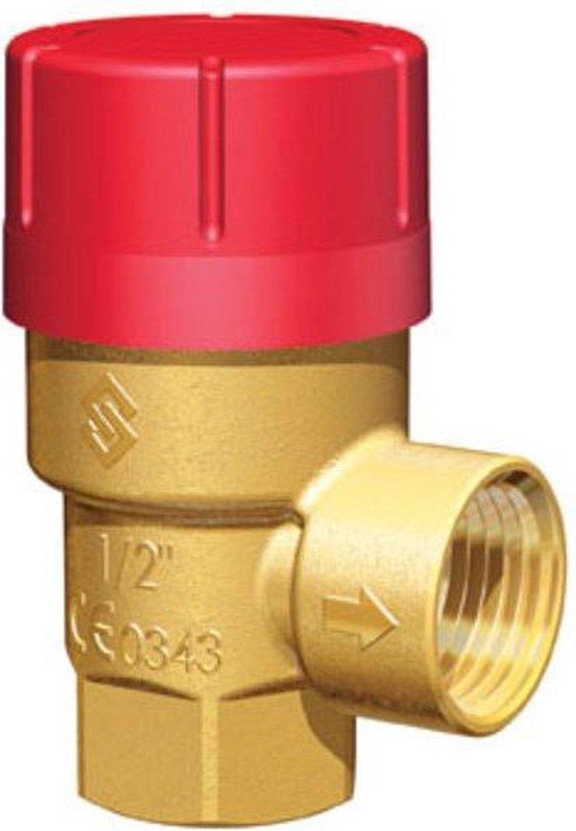 Flamco Prescor overstortventiel 1/2 bu 3 bar, max. 125kw