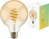 Hombli Smart Filament Bulb E27 G95 – Amber –  Globe – Warm wit licht