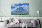 Roken van de beroemde stratovulkaan in Costa-Rica Canvas 180x120 cm - Foto print op Canvas schilderij (Wanddecoratie woonkamer / slaapkamer) XXL / Groot formaat!