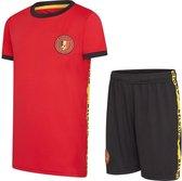 België jongens voetbaltenue 21/22 - België tenue - jongens België tenue -  kids voetbaltenue - België shirt en broekje - maat 128