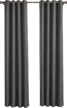Larson Blackout Gordijn - Donkergrijs - 150x250 cm - Kant en Klaar - Per Stuk