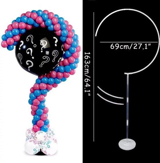 ballonstandaard vraagteken, ballonvoet genderreveal, kindercrea
