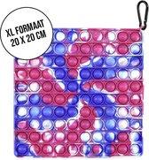 Pop it XL | fidget toy | mega groot formaat | Roze/blauw marmer