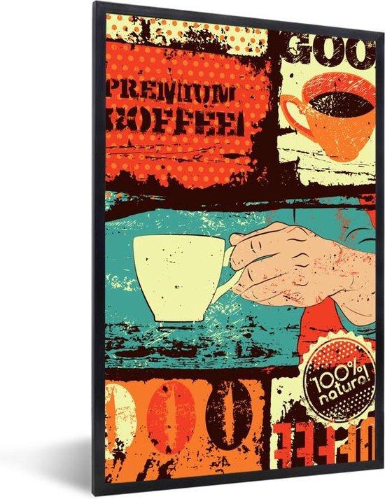 Koffie vintage kleurrijk 20x30 cm - klein
