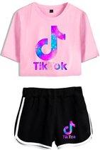 Tik Tok zomer setje - Tik Tok - Tik Tok galaxy set - crop top - 2-delige meisjes set - meisjes kleding - tik tok kleding