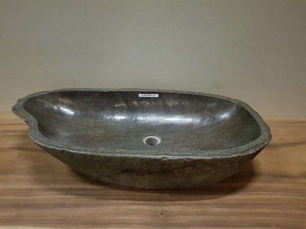 Wasbak natuursteen FL20614 - 86x43x16cm