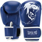 Super Pro Combat Gear Talent (kick)bokshandschoenen Blauw/Wit 8oz