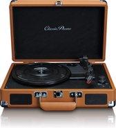 Classic Phono TT-10 - Platenspeler met 2 ingebouwde speakers - Bruin