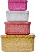 Lunch & snack box set: Gold blush | A Little Lovely Company