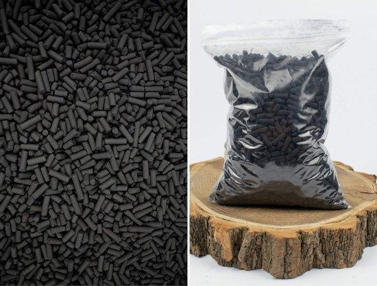 Actieve kool korrels 650g/1 Liter - Sybotanica - Terrarium Filtratie - Houtskool Poeder - Filtert potgrond & aquariums