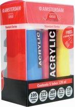 Amsterdam Standard acrylverf 5 tubes 120ml met gratis doseertuiten