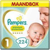 Pampers Premium Protection - Maat 1 - Maandbox - 224 luiers