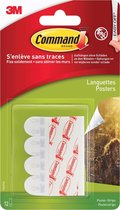 Command™ Posterstrips, 17024C, wit, 12 strips