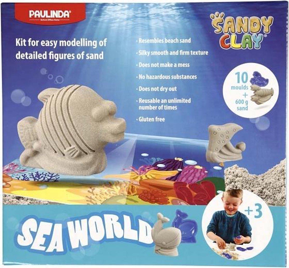 speelzand Seaworld 600 gram met 10 vormpjes