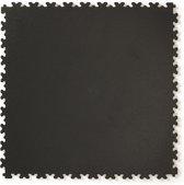 PVC kliktegel hamerslag zwart 50x50cm   Dikte 4mm   Set 40 stuks   10m2